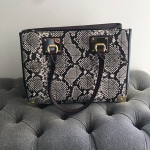 Aldo Snake print faux leather bag